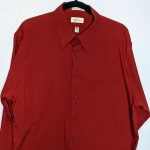 Van Heusen Long Sleeve Red Shirt
